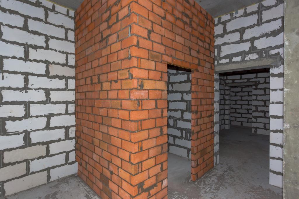 как построить перегородку из кирпича